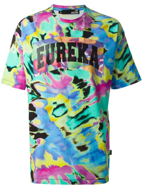 tie and dye maison 172 moschino eureka tie dye t shirt in multicolor for