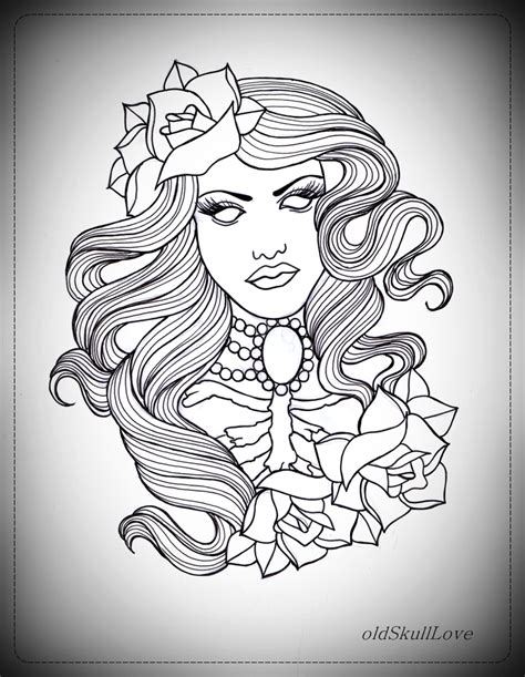 hot tattoo outlines girl flash art tattoo design hot girls wallpaper