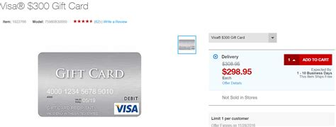 Visa Gift Card Limit - out of stock staples 300 visa gift card for 298 95 delivered limit 1 doctor