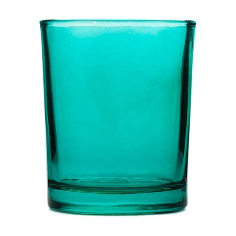 Glass Votive Candle Holders Lagoon Blue Glass Votive Candle Holder