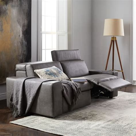 west elm reclining sofa enzo leather reclining sofa 76 quot west elm