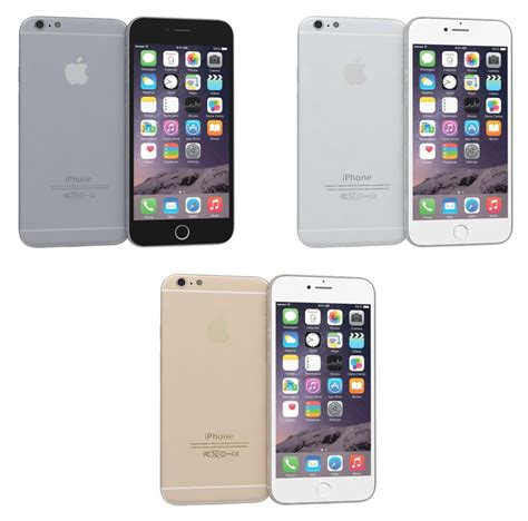 apple iphone 6 colors 3d max