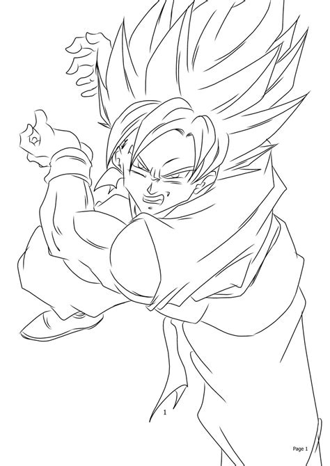 goku kamehameha coloring pages goku clipart cliparthut free sketch coloring page