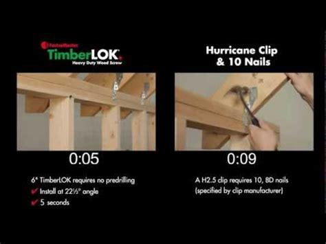 timberlok 6 hurricane tie replacement fastenmaster fastenmaster 6 quot timberlok vs hurricane ties
