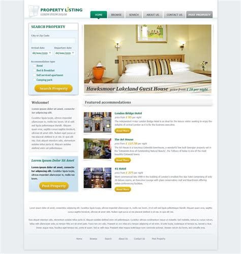 free real estate website templates real estate website template free real estate web