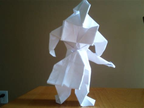 How To Make An Origami Soldier - origami warrior by ritalabella on deviantart