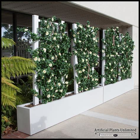 indoor space dividers  barriers artificial plants
