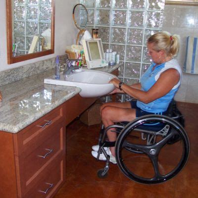 wheelchair accessible bathroom sinks space options project residential accessible bathroom