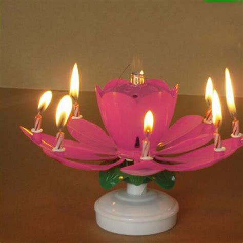 Happy Birthday Candle Lilin Musik Happy Birthday happy birthday geburtstagskerze mit musik geburtstag blumen candle sch 246 n neu ebay