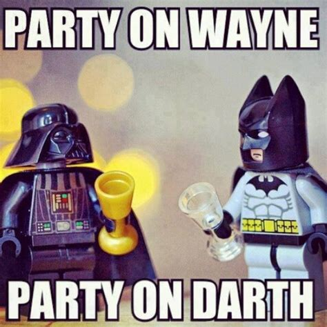 Superhero Birthday Meme - batman darth vader bruce wayne s world from look what