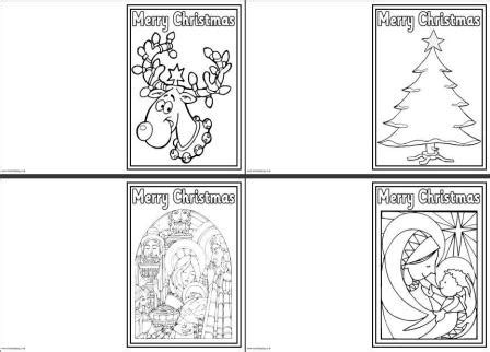 printable christmas cards for kids to color 7 best images of printable foldable coloring christmas