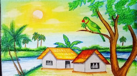 draw pastel landscapestep  stepeasy draw