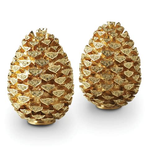 buy l objet pine cone salt pepper shakers gold amara