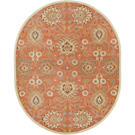 6 x 9 oval area rugs artistic weavers rust 6 ft x 9 ft oval area rug s00151007258 the home depot
