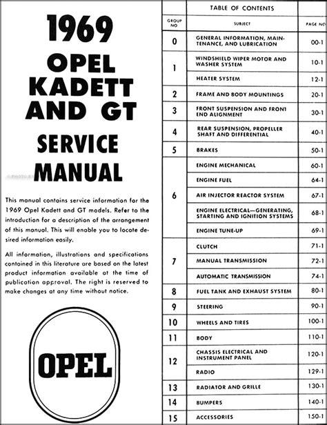 what is the best auto repair manual 1969 chevrolet camaro navigation system 1969 opel kadett gt repair shop manual original