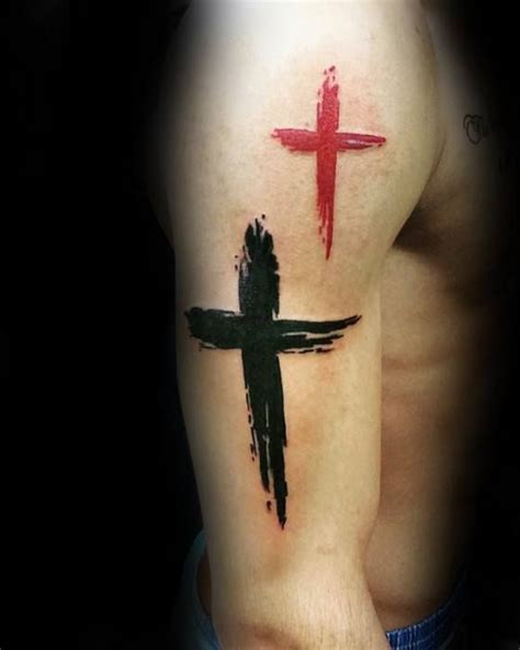 men s cross tattoo designs 50 simple cross tattoos for religious ink design