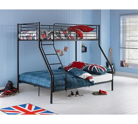 bunk bed argos buy home metal bunk bed frame black at argos co