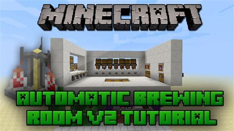 minecraft brewing room minecraft selectable automatic brewing room v2 tutorial