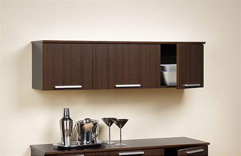 yaletown espresso wall mounted hutch contemporary