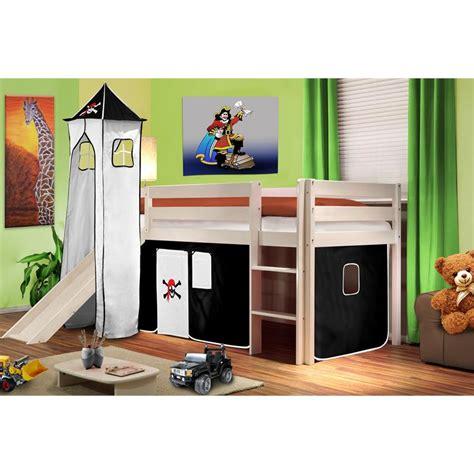 lit supereleve chateau fort garcon avec toboggan litsuper