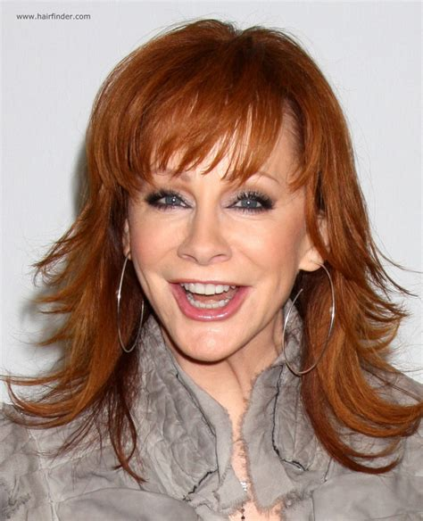 hair colors for 50 plus reba mcentire long chiseled hairstyle for 50 plus