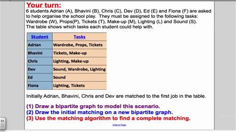 youtube pattern matching maximum matching algorithm tutorial 13 d1 edexcel a