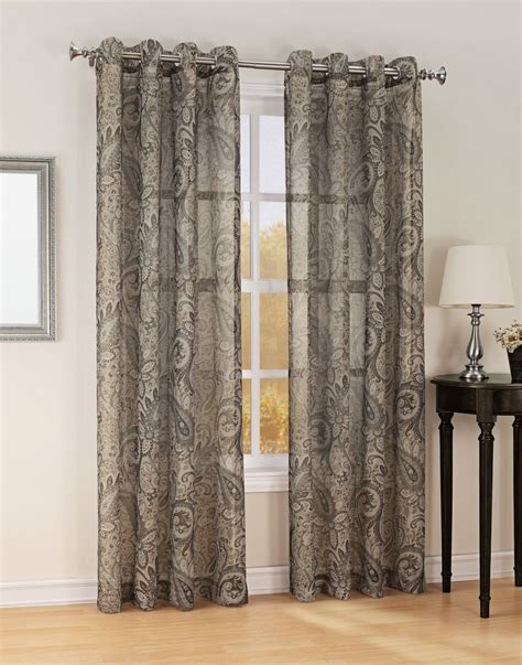 Semi Sheer Curtains Smith Celeste Print Textured Semi Sheer Grommet Window Panel Home Home Decor Window