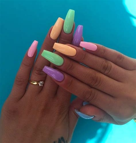 pastel color nails pastel colors nails colors multicolor nails