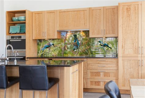 Kitchen Backsplash Glass Tile Design Ideas tui portrait printed image on glass kitchen splashback