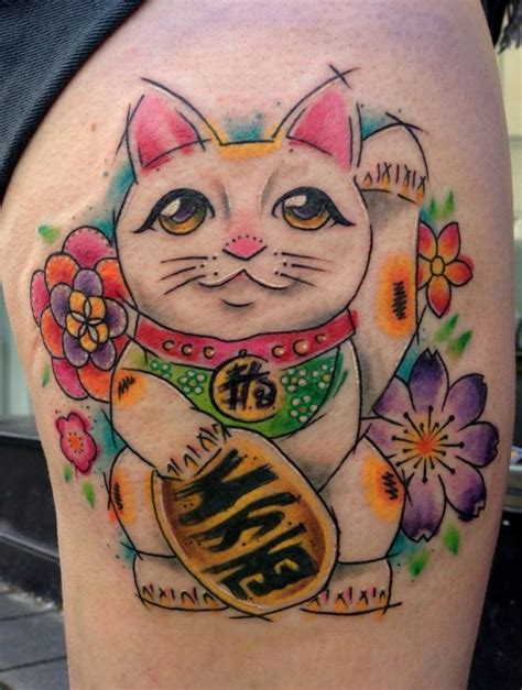 lucky rabbit tattoo lucky cat by the black rabbit