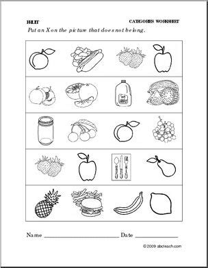 6 fruit categories worksheet fruit categories preschool primary abcteach