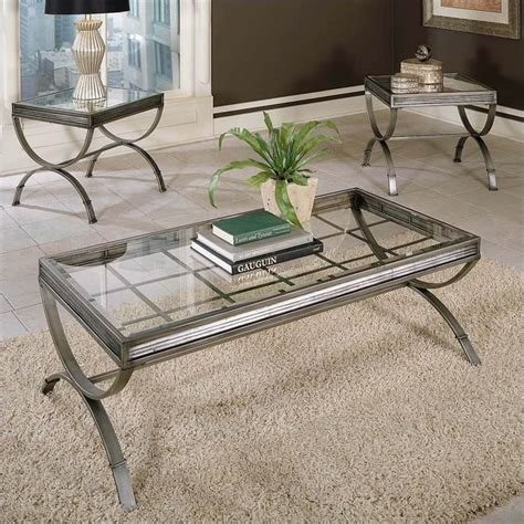 silver coffee table set steve silver company emerson 3 coffee and end table