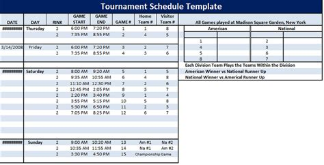 5 team league schedule template how to create a youth football league schedule template