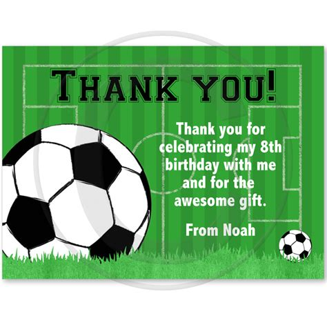 printable birthday cards soccer 9 best images of soccer thank you card printable free