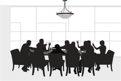 dinner silhouette free party dinner cliparts download free clip art free
