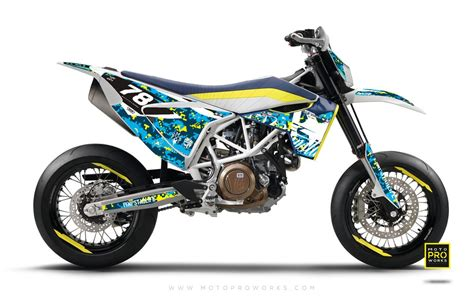 Blue Print Custom Decal Huswarna husqvarna 701 graphic kit quot marpat quot special motoproworks decals and graphic kit