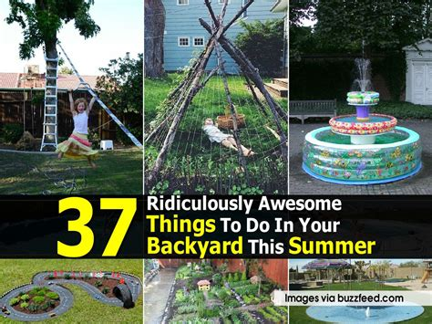 things to do in your backyard 37 ridiculously awesome things to do in your backyard this summer