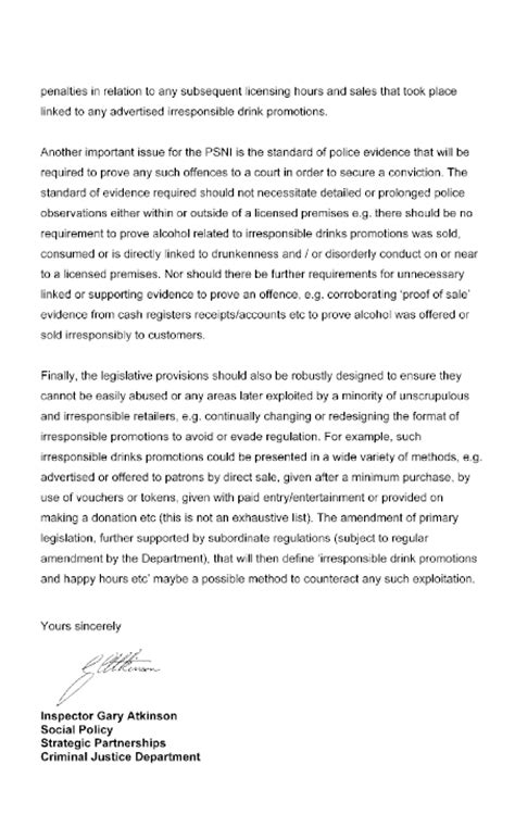 Enforcement Promotion Letter Enforcement Promotional Cover Letter