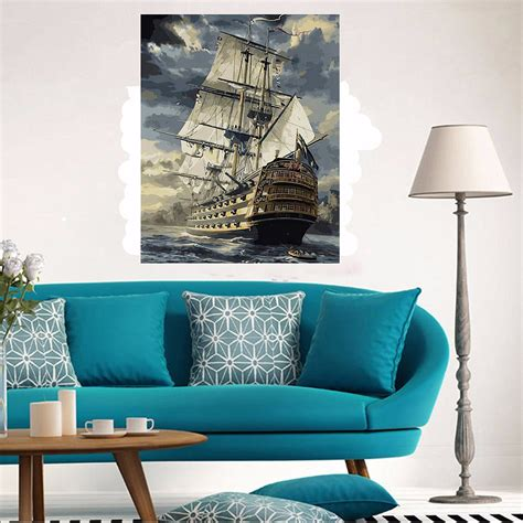 diy boat paint kit 40x50cm new sailing boat painting diy self handcrafted