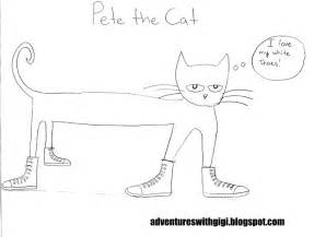 pete the cat coloring page adventures with gigi pete the cat