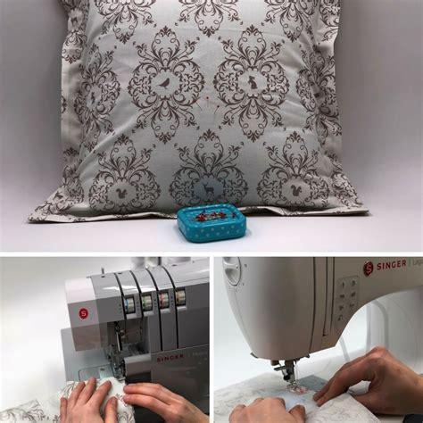 con il cuscino il cuscino con bordo e zip nascosta tutorial di cucito