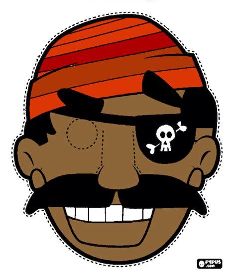 printable pirate mask printable halloween masks