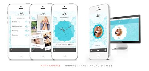 wedding layout app appy couple a stylish and social way to share you wedding