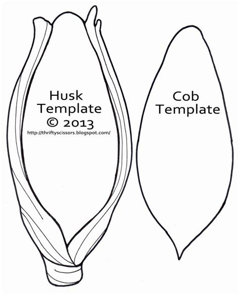 coloring page ear of corn ear of corn template google search farm and gardening