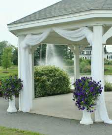 gazebo decorations use fabric tulle to decorate gazebo maybe just at the