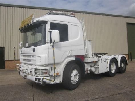 scania 124 lhd 6x4 heavy duty tractor unit for sale in
