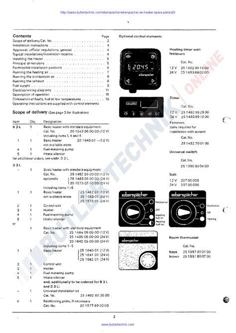 eberspacher d1lc wiring diagram troubleshooting diagrams