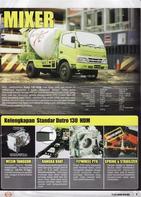 Truk Mixer Hino jual truk hino mixer dutro kapasitas 3m3 kondisi baru