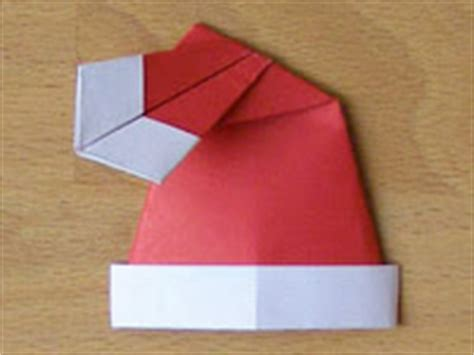How To Make An Origami Santa Hat - santa hat origami paper origami guide