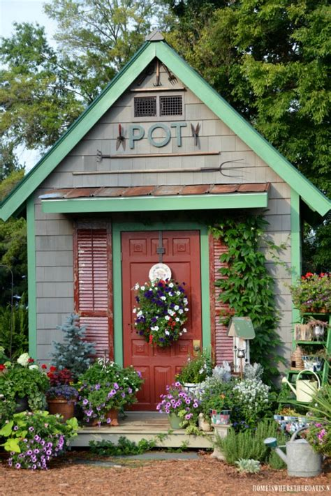 ideas  shed landscaping  pinterest shed